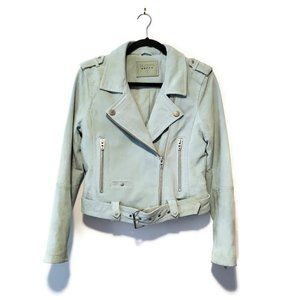 Blank NYC Mint Belted Suede Leather Jacket